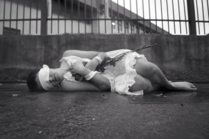 Una mujer embarazada  en los cuarteles de la DINA.Reinalda