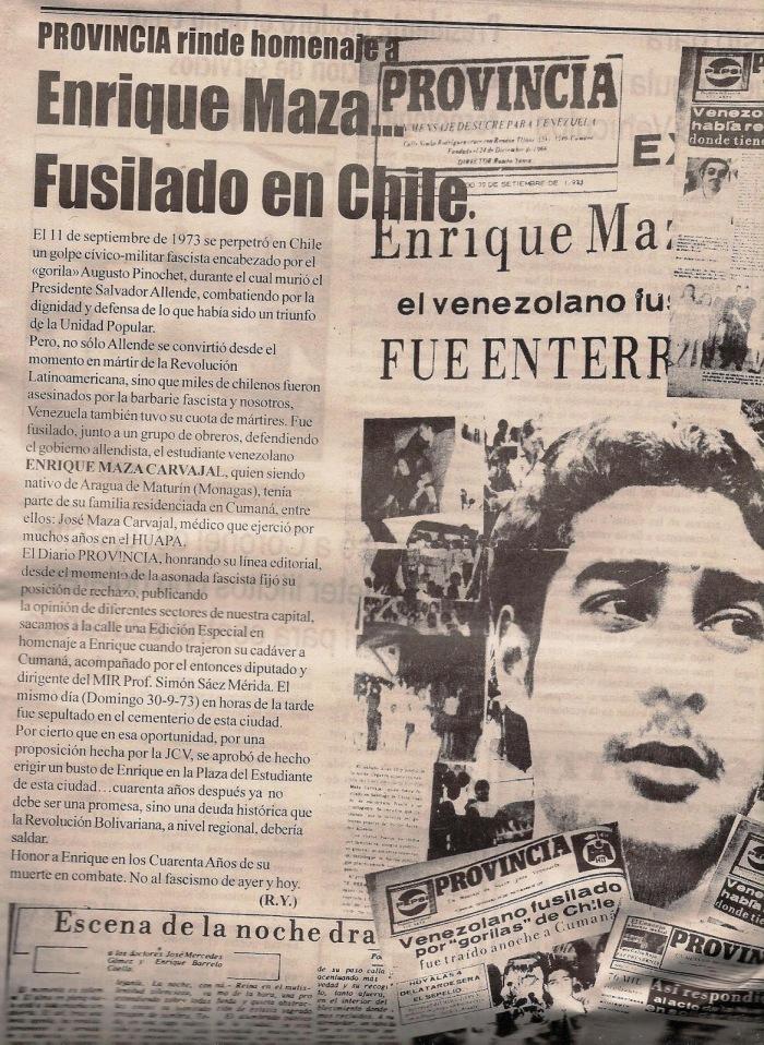 Resultado de imagen para Enrique Maza Carvajal